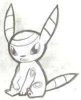 Cute Umbreon drawing by HiddenWolfSoulKimi