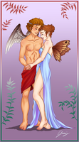 Eros and Psyche by x-Lilou-chan-x