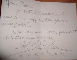 Letter from Rik Mayall by ILoveBrucieD