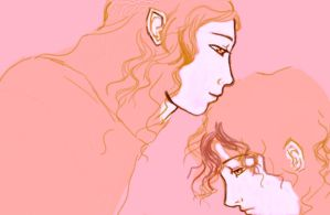 Galadriel and Frodo by asuo