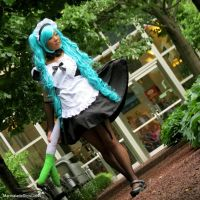 French Maid Miku by MarmaladeSkysGirl45