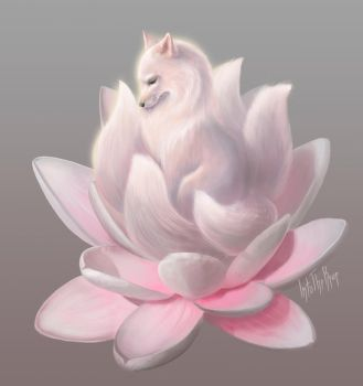 Little kitsune by IntoTheBear