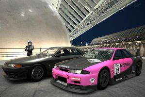 Normal and race car 1 by macaustar