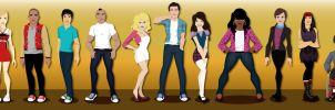Glee Cast by rickytherockstar