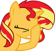 Sunset Shimmer facehoof by nano23823