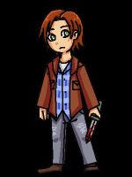 SPN: Sam Winchester Animated Pixel by LuciferianRising