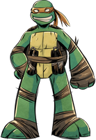 TMNT Mikey by angieness