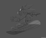 Sonic on Snowboard - other version by JacobMainland