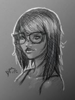 Glasses Chick by dark-maggot
