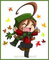 Chibi My - Autumn Leaf by ZombiDJ
