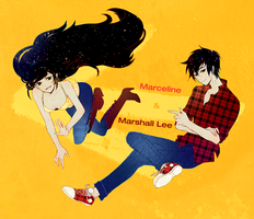 Marceline and Marshall Lee by habi117