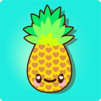 Kawaii Pineapple Vector Tutorial by marywinkler