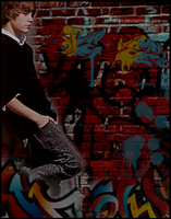 Edgy: Bieber Graffiti Wall by mont3r0