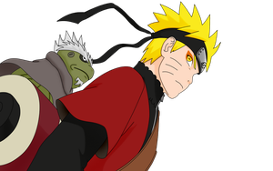 Naruto Sage Lineart COLORED by DarkAngelOfSilence