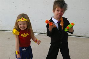 Wonder Woman and Two-Face Halloween '13 by jmaur82