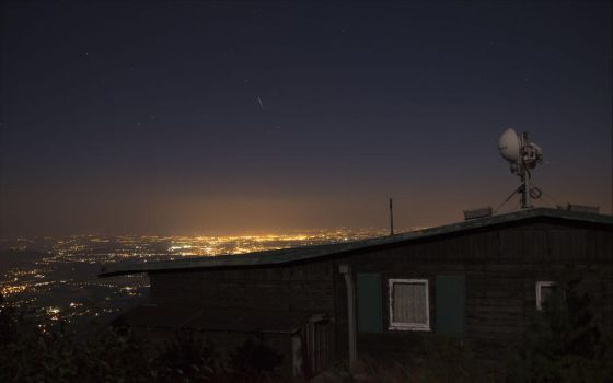 Perseids above the FM city by Bl4zy