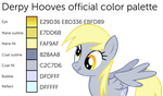 Derpy Hooves official color guide by MintyRoot