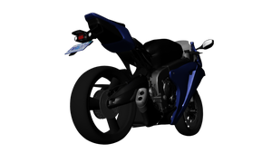 CBR1000RR 3D Model Back View by ChiiLissa
