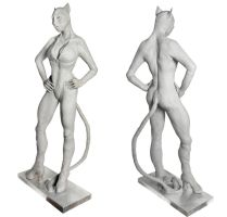 Catwoman sculpture angled shots by Danwhitedesigns