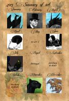 2014 summary of art by The-Black-Panther