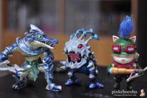 Renekton Kog'maw Teemo - LoL Sculptures by chinggay