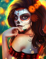 Drawlloween, Catrina. by victter-le-fou