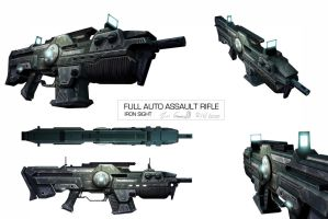 Final assault rifle iron sight by DESTRAUDO