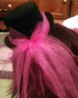 Mini tophat pink tulle(back) by Rainbowkitty-Designs