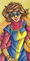 Ms. Marvel Bookmark by ibroussardart