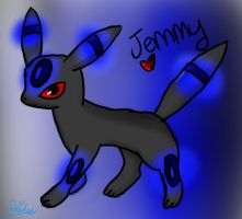 Jemmy the Umbreon by iFailAtEverything