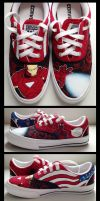 Marvel themed shoesf! by sayuttan