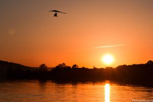 Sunset with a glider by Sulde
