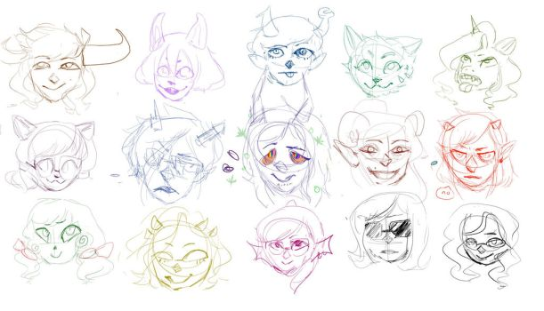 hellnostuck sketches by eggs4lyf