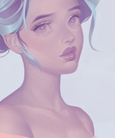 Pastel color palet portrait by Amethylia