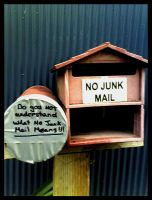 NO JUNK MAIL by Lilithia