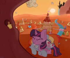 Twi and Dashie Sitting in a Tree... by VengefulStrudel