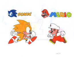 Crossovers - Sonic vs. Mario by CAR-TACO