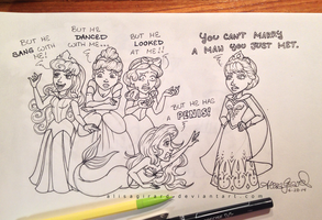 Frozen vs Disney Princesses: A Man You Just Met by alisagirard