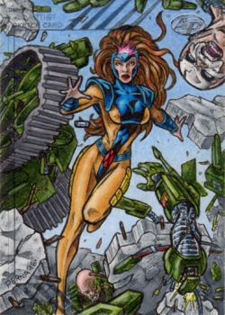Jean Grey - 2015 Marvel Fleer Retro AP by tonyperna