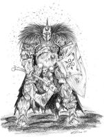 Nurgle Chaos Knight by cyphercodicer2