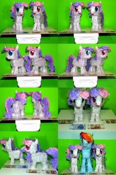 Sweetie Bot and Thrackerzod Paper Plushies by C-quel