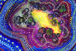 Cosmic Marbles by jenthestrawberry