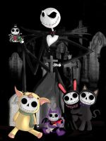 Furry Bones Meet Jack Skellington by ScorpionsKissx
