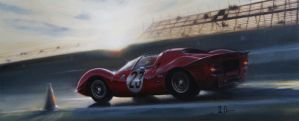 Daytona - Chris Amon 1967 by donpackwood