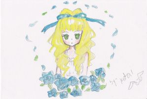 blue rose by Choulaphone
