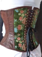 Forest green corset by LillysWorkshop