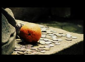 Orange Coins by BloodyMinded6