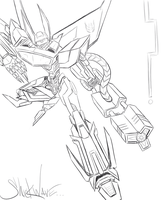 WFC Shockwave Sketch by KawaiiSonicChao