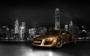 Audi R8 gold by kelevra2k9
