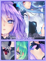 Fight Like a Girl artbook PREVIEW by CaramelCaprice